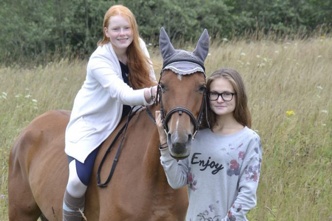 Laimos zirgai stovykla