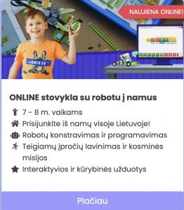 Online stovykla su robotu